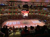 Chicago unió la competencia de deportes de centro, ambiente interno del lugar fotos de archivo