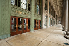Chicago Union Station Entrance. Image of entrance doors to the Union Station Chicago Royalty Free Stock Photo