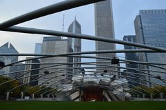 Chicago, United States of America. Always interesting, beautiful city of Chicago Royalty Free Stock Photography