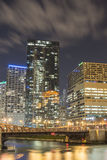 Chicago Urban Landscape at Night Royalty Free Stock Image