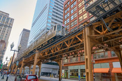 Chicago. USA - CIRCA APRIL, 2016:  urban landscape at daytime.  is the third-most populous city in the United States royalty free stock photography
