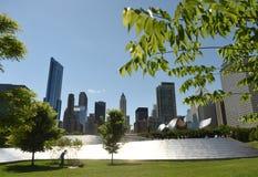 Chicago, usa - Czerwiec 04, 2018: Ludzie na BP Zwyczajnym moscie i Obrazy Stock