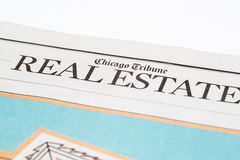 Chicago USA-Feb 12 2017:Chicago Tribune Real Estate Section (for editorial use only) Royalty Free Stock Photo