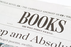 Chicago USA-Feb 12 2017:The Wall Street Journal Newspaper Books Section (for editorial use only) Royalty Free Stock Photo