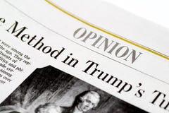 Chicago USA 12. Februar 2017: Die Wall Street Journal-Zeitung, nur redaktioneller Gebrauch Meinung Sectionfor Stockfotografie