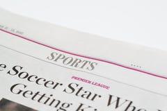 Chicago USA-Februari 11-12 2017: Den Wall Street Journal tidningen, sportSectionfor redaktörs- bruk endast Royaltyfria Foton