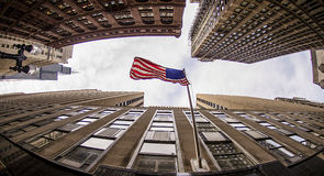 Chicago - USA flagga Royaltyfri Foto
