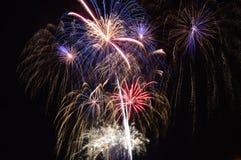 Chicago, USA 1. Januar 2017 Feuerwerke am Marine-Pier zum welcom Lizenzfreies Stockbild