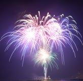 Chicago, USA 1. Januar 2017 Feuerwerke am Marine-Pier zum welcom Stockfoto
