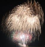 Chicago, USA 1. Januar 2017 Feuerwerke am Marine-Pier zum welcom Stockfotografie