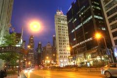 CHICAGO USA, JULI 7: POV av i stadens centrum Chicago i Chicago, USA i J Royaltyfria Bilder