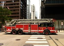 Chicago, USA - June 05, 2018: Fire truck on the street of Chicago, Illinois. stock photo