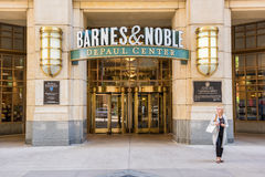 Chicago, USA - May 30, 2016: Entrance to Barnes and Noble bookstore in downtown city at DePaul University center Royalty Free Stock Photos