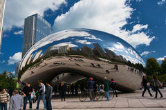 CHICAGO, USA - OCTOBER 6: Famous Slivery Bean Royalty Free Stock Photo
