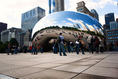 CHICAGO, USA - OCTOBER 6: Famous Slivery Bean Stock Photography