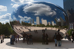 CHICAGO, USA - OCTOBER 6: Famous Slivery Bean Royalty Free Stock Photography