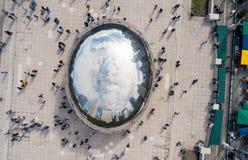 CHICAGO, USA - 1. OKTOBER 2017: Jahrtausendparkvogelperspektive mit lizenzfreies stockbild