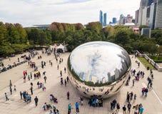 CHICAGO, USA - 1. OKTOBER 2017: Jahrtausendparkvogelperspektive mit lizenzfreie stockbilder