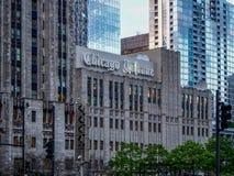 Chicago USA - Chicago Tribune byggnad i Chicago - USA royaltyfria bilder