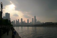 Chicago - vóór het Onweer Royalty-vrije Stock Afbeelding