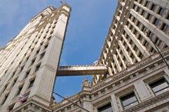 Chicago van de binnenstad, moderne gebouwen Stock Afbeelding