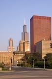 Chicago van de binnenstad, straten en het stedelijke leven stock fotografie
