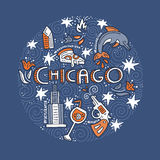 Chicago Vector Concept Royalty Free Stock Images