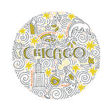 Chicago Vector Concept stock illustration