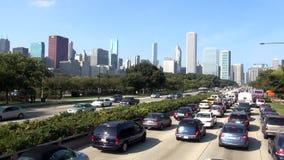 Chicago-Verkehr - Stadt von Chicago stock video footage
