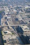 Chicago-Verschiebebahnhof Stockfoto