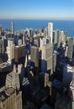 Chicago - View on the City and Lake Michigan from the Willis Tower, 2013 Stock Photo