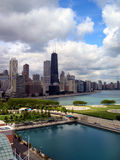 Chicago view from Navy Pier Stock Images