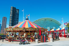 Chicago: view of Navy Pier, carousel and Lake Point Tower on September 22, 2014 Stock Photography