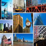 Chicago Views Collage Stock Photography