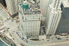 Chicago. Vista aerea di Chicago del centro. Fotografia Stock