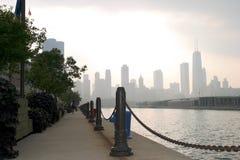 Chicago - vista del pilastro del blu marino Fotografia Stock Libera da Diritti