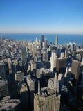 Chicago - vista na cidade e no Lago Michigan de Willis Tower, 2013 imagens de stock royalty free