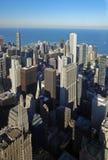 Chicago - vista na cidade e no Lago Michigan de Willis Tower, 2013 foto de stock