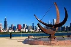Chicago vom Adler-Planetarium Stockbilder
