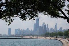 Chicago vom Nordufer Stockfotos