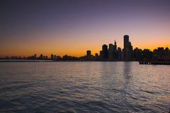 Chicago vom Wasser Stockfotografie
