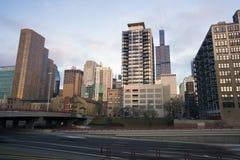 Chicago von I-90/94 Lizenzfreie Stockfotos