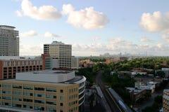 Chicago von im Stadtzentrum gelegenem Evanston Stockfotos