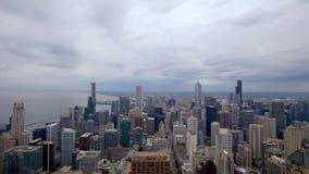 Chicago von oben genanntem - erstaunliche Vogelperspektive stock video footage