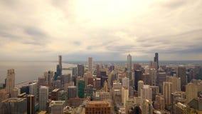 Chicago von oben genanntem - erstaunliche Vogelperspektive stock footage