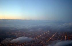 Chicago-Vorstadtgitter Stockfotografie