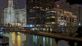 Chicago w plakacie obrazy royalty free