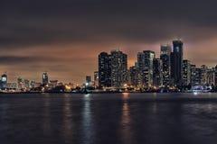 Chicago-Wasserfront-Nacht-scape lizenzfreie stockfotografie