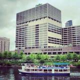 Chicago-Wassertaxi Stockfoto