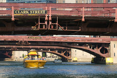 Chicago Water Taxi at downtown Stock Photos